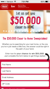 The $50,000 Closer to Home Sweepstakes